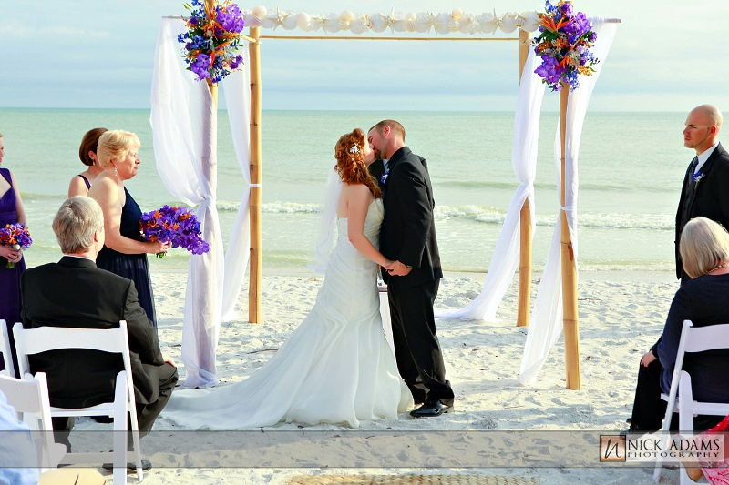 tropical destination wedding sanibel island, fl