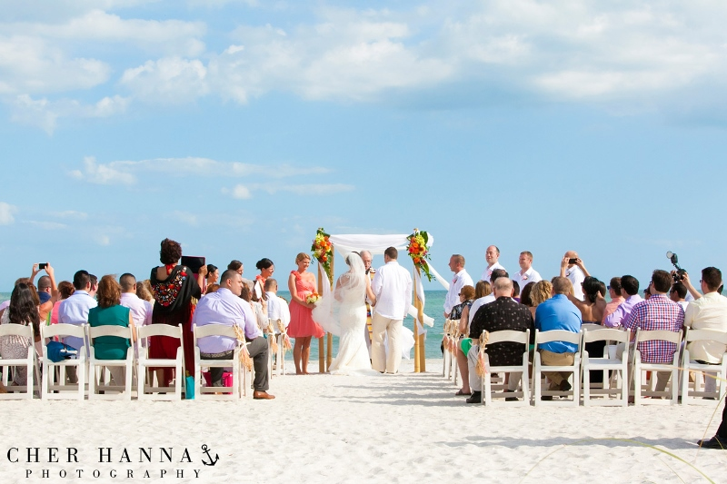 Tropical Island Destination Tent Wedding